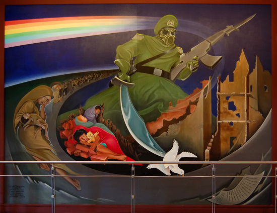 Crank back up those denver airport conspiracy theories for Denver mural conspiracy