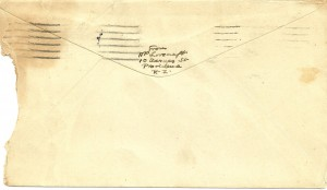 Lovecraft Envelope Back