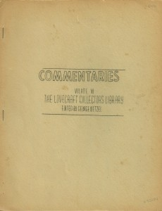Lovecraft Commentaries