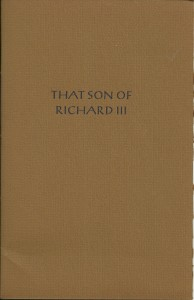 Bradbury Son Richard III