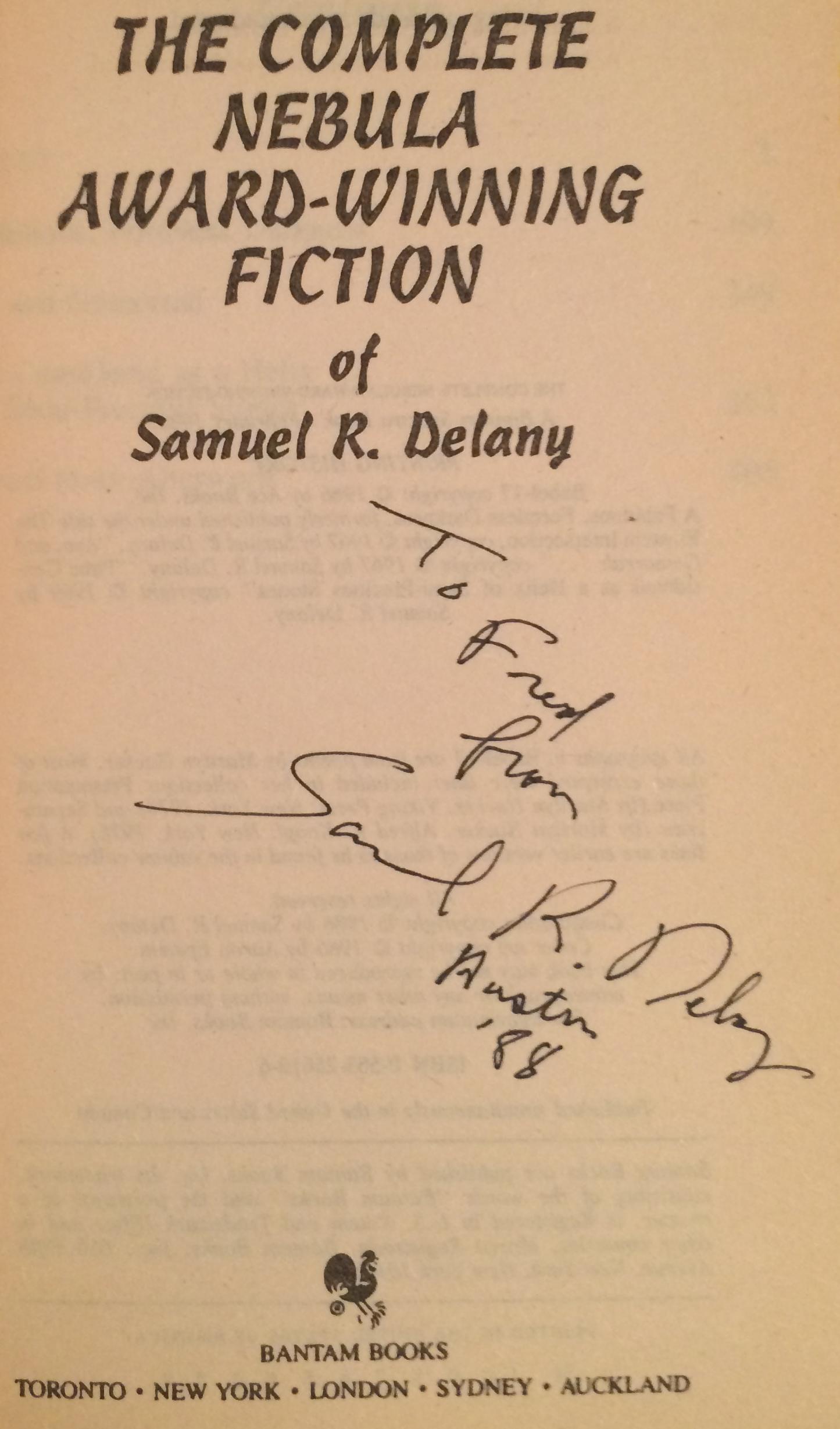 Samuel R Delany Books