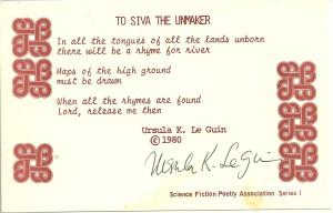 Le Guin Postcard