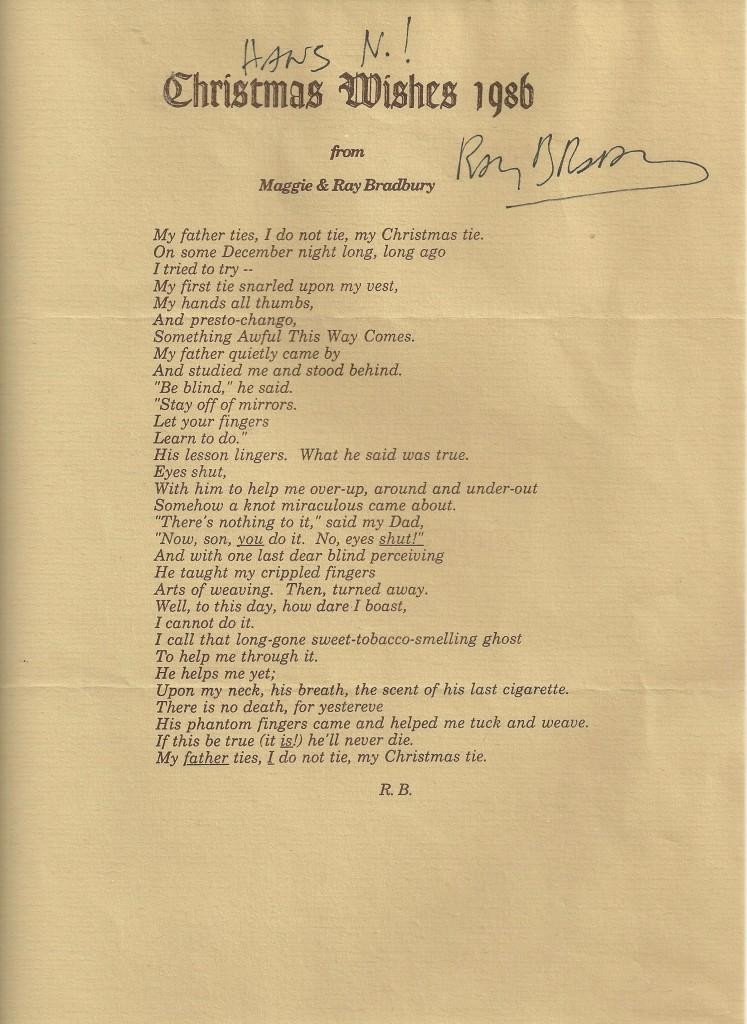 Bradbury Christmas 1986